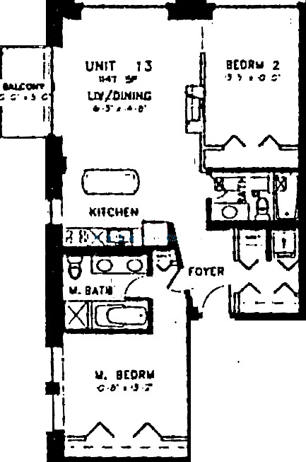 420 S Clinton Floorplan - 13 Tier*