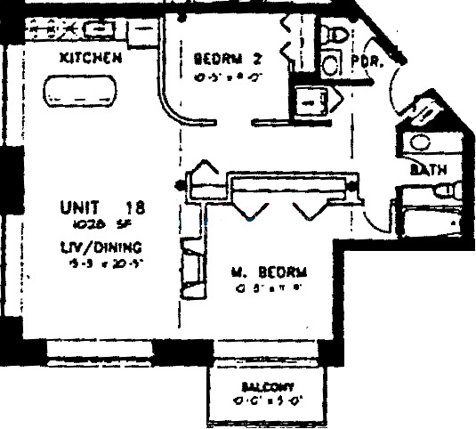 420 S Clinton Floorplan - 18 Tier*