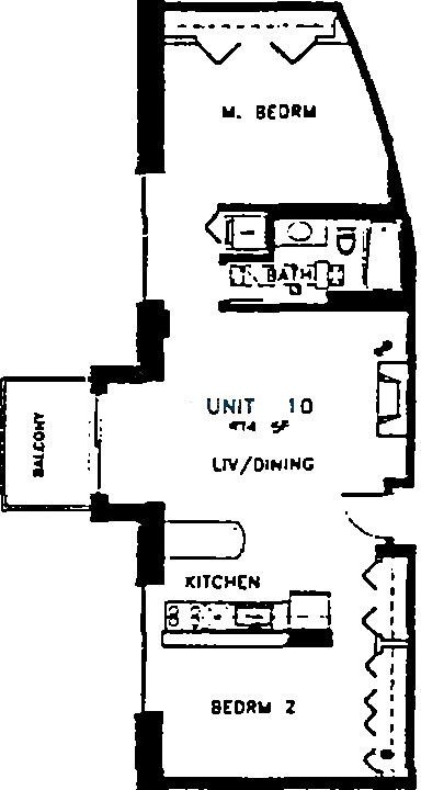420 S Clinton Floorplan - 10 Tier*