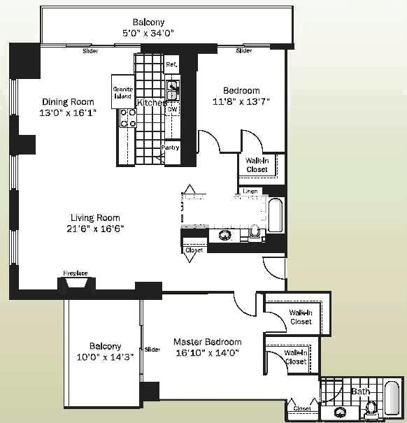 545 N Dearborn Floorplan - 01 Tier