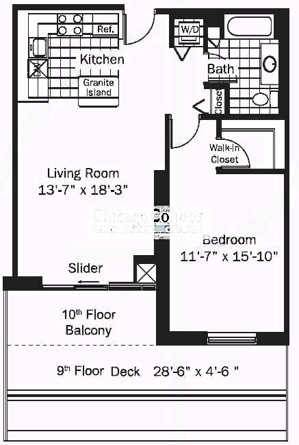 545 N Dearborn Floorplan - 09 Tier