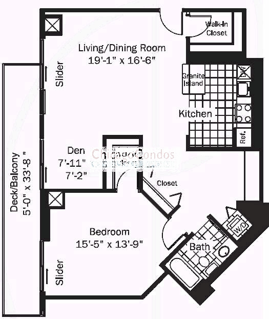 545 N Dearborn Floorplan - 11 Tier*