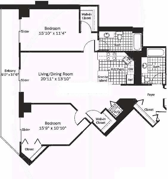 545 N Dearborn Floorplan - 11 Tier