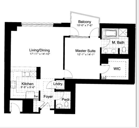 600 N Lake Shore Drive Floorplan - 10 South Tier