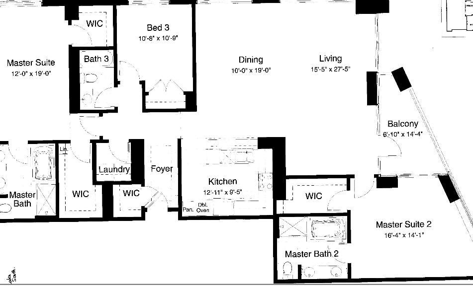 600 N Lake Shore Drive Floorplan - 11 South Tier