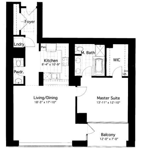 600 N Lake Shore Drive Floorplan - 07 South Tier