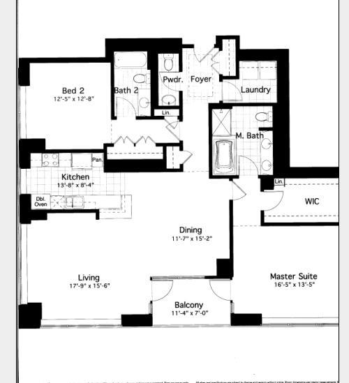600 N Lake Shore Drive Floorplan - 08 South Tier