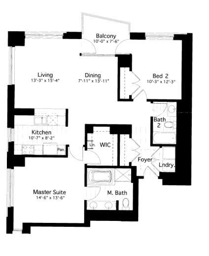600 N Lake Shore Drive Floorplan - 09 South Tier