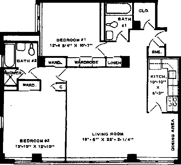 6118 N Sheridan Floorplan - 02 Tier