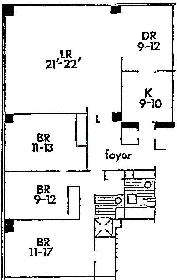 860 N Lake Shore Drive Floorplan - L Tier