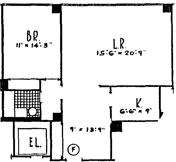 860 N Lake Shore Drive Floorplan - C, F,G Tiers