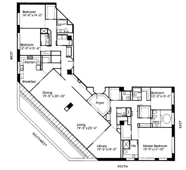 950 N Michigan Floorplan - 46A5 Tier