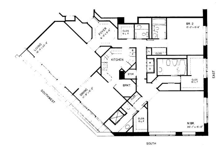 950 N Michigan Floorplan - 47A2 Tier
