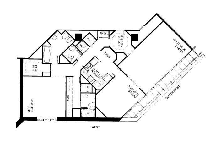 950 N Michigan Floorplan - 47F1 Tier