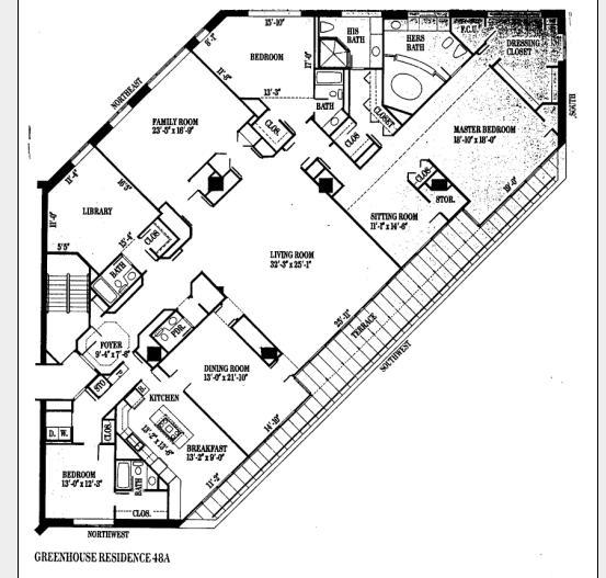 950 N Michigan Floorplan - 48 A Tier