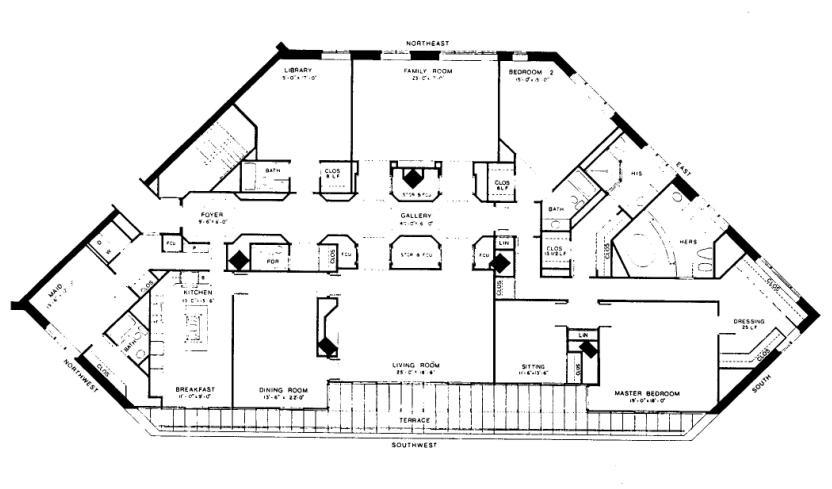 950 N Michigan Floorplan - 48A4 Tier