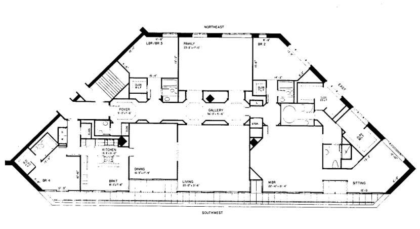 950 N Michigan Floorplan - 49A4 Tier