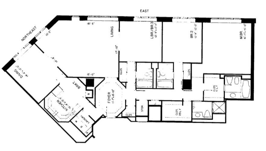 950 N Michigan Floorplan - 49C3 Tier