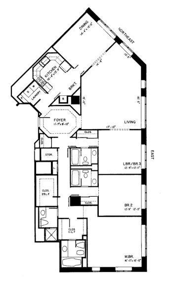 950 N Michigan Floorplan - C3 Tier
