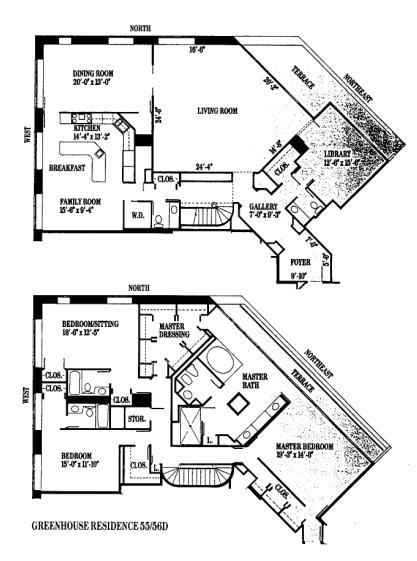 950 N Michigan Floorplan - 55 56 D Tier