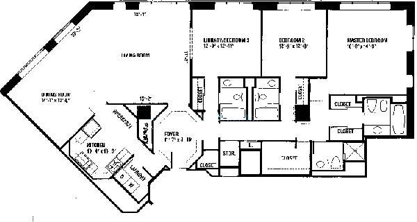 950 N Michigan Floorplan - C Tier*