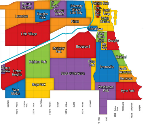 Map Of South Side Chicago Neighborhoods Chicago Neighborhood Map | Dream Town Realty