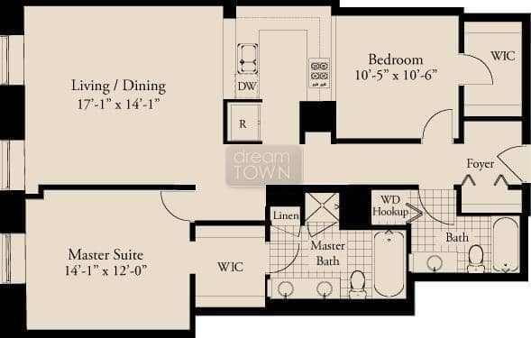 310 S. Michigan  Floorplan: 13 Tier*