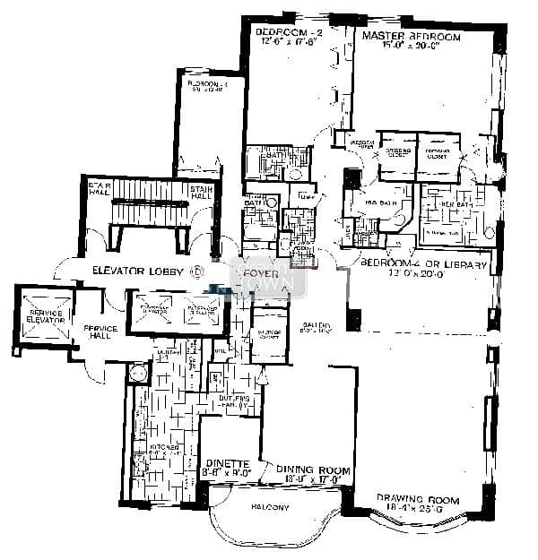 Floorplan: 1040 N LAKE SHORE DRIVE: THE CARLYLE