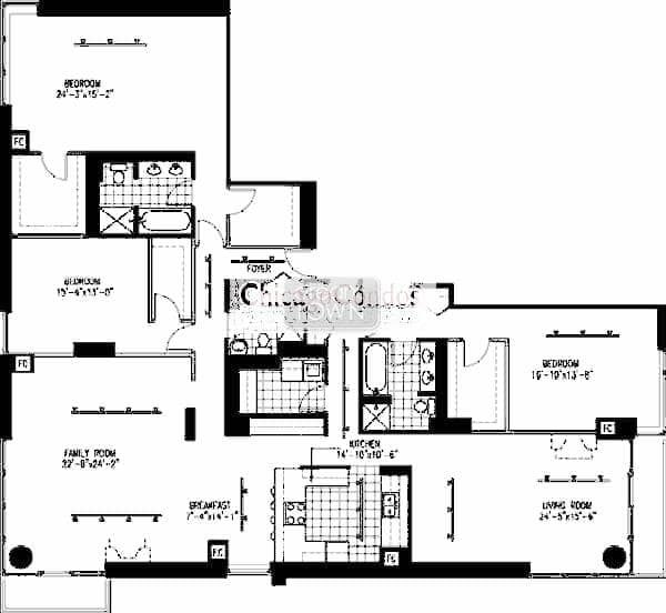 1 N. Halsted Floorplan