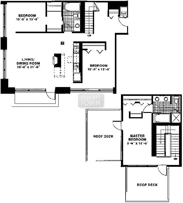 Floorplan: 625 W JACKSON: CAPITOL HILL LOFTS