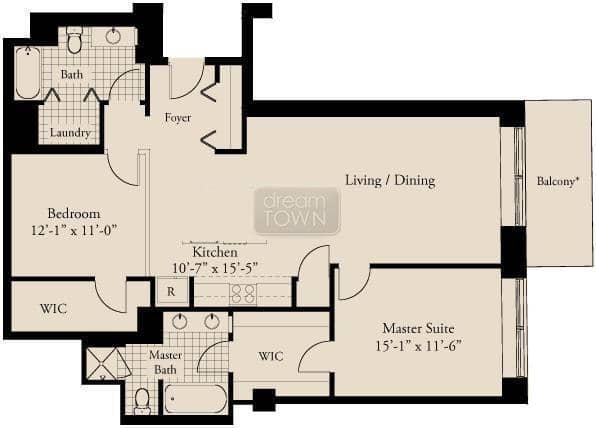 310 S. Michigan  Floorplan: 07 Tier*
