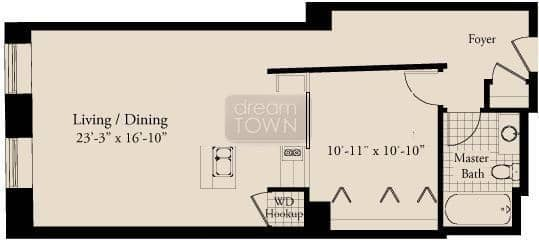 310 S. Michigan  Floorplan: 11 Tier