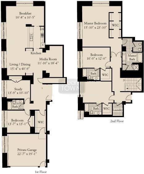 310 S. Michigan  Floorplan: Unit 200 Tier*