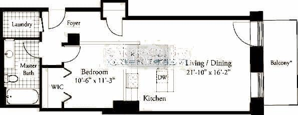 310 S. Michigan  Floorplan: 06 Tier*