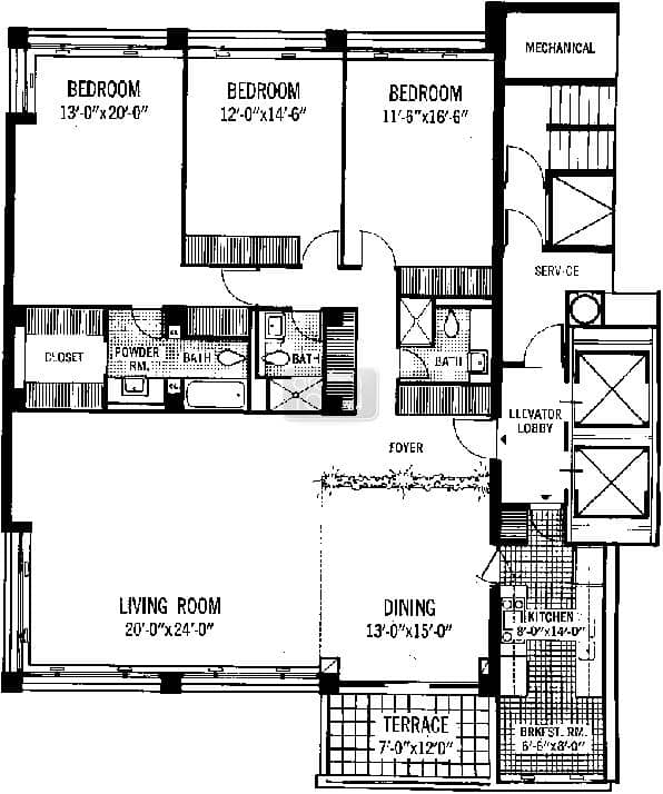 1300 n lake shore gold coast condo information for 1400 n lake shore drive floor plans
