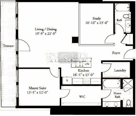 310 S. Michigan  Floorplan: 08 Tier*