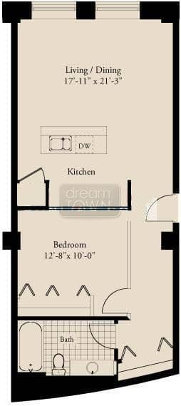 310 S. Michigan  Floorplan: 05 Tier*