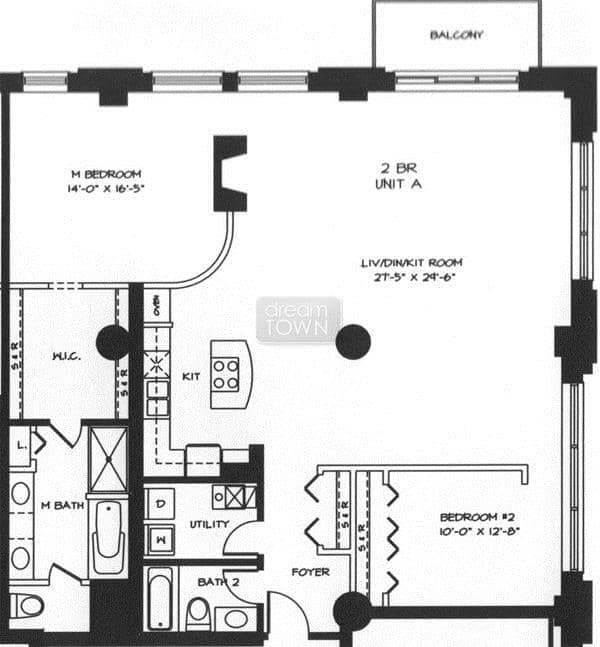 Floorplan: 360 W ILLINOIS: THE SEXTON