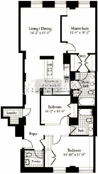 310 S. Michigan  Floorplan: 02 Tier*