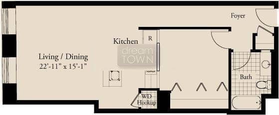 310 S. Michigan  Floorplan: 10 Tier*