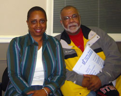 Wanda Whitmore and Cortrell Harris
